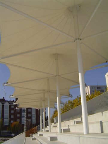 stadium tensile shade structure